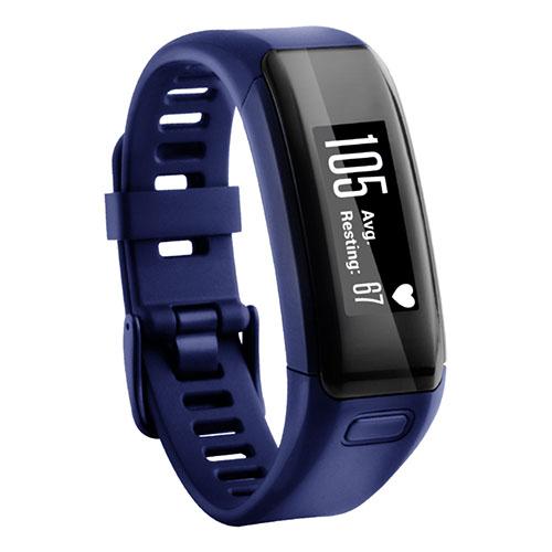Фитнес-браслет Garmin Vivosmart HR синийGarmin Vivosmart HR - удобный и функциональный фитнес-браслет.<br><br>Цвет товара: Синий<br>Материал: Пластик