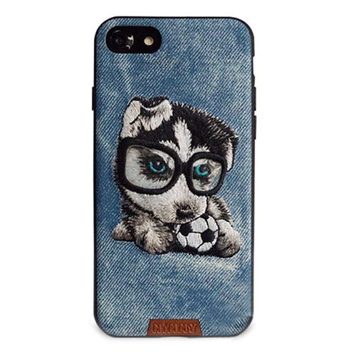 Чехол Nimmy Pet Denim для iPhone 7 Щенок с мячом