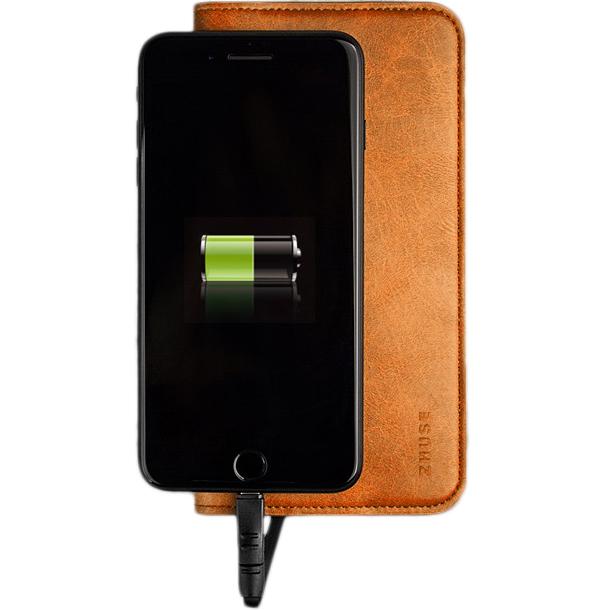 Кошелёк-аккумулятор Zhuse Star River Series Power Bank 6800 мАч коричневыйДополнительные и внешние аккумуляторы<br>Благодаря Zhuse Star River Series всё самое важное будет храниться в одном месте!<br><br>Цвет: Коричневый<br>Материал: Пластик, эко-кожа