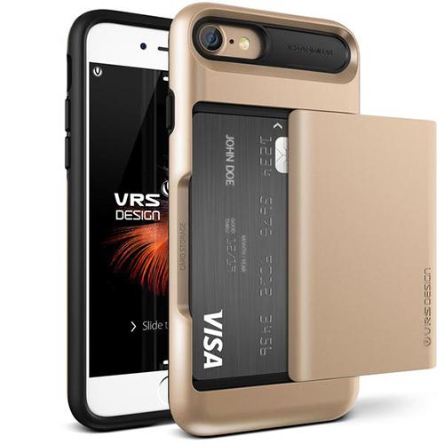 Чехол Verus Damda Glide для iPhone 7 (Айфон 7) золотистый (VRIP7-DGLGD)Чехлы для iPhone 7<br>Чехол Verus для iPhone 7  Damda Glide, шампань (904607)<br><br>Цвет товара: Золотой<br>Материал: Поликарбонат