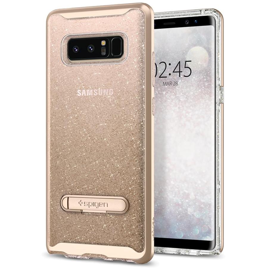Чехол Spigen Crystal Hybrid Glitter для Samsung Galaxy Note 8 золотой кварц (587CS21844)Чехлы для Samsung Galaxy Note<br>Spigen Crystal Hybrid Glitter способен продемонстрировать ваш Samsung Galaxy Note 8 с защитой и блеском, которого он заслуживает.<br><br>Цвет товара: Золотой<br>Материал: Термопластичный полиуретан, поликарбонат
