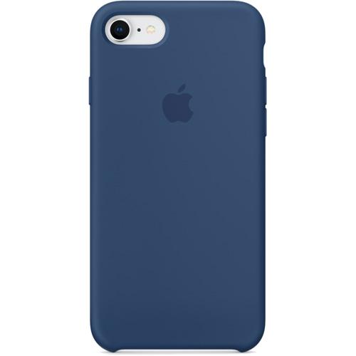 Силиконовый чехол Apple Silicone Case для iPhone 8/7 (Blue Cobalt) тёмный кобальтЧехлы для iPhone 7<br>Силиконовые чехлы, специально созданные для нового смартфона от Apple, в точности повторяют контуры Айфон, не делая его громоздким.<br><br>Цвет товара: Синий<br>Материал: Силикон