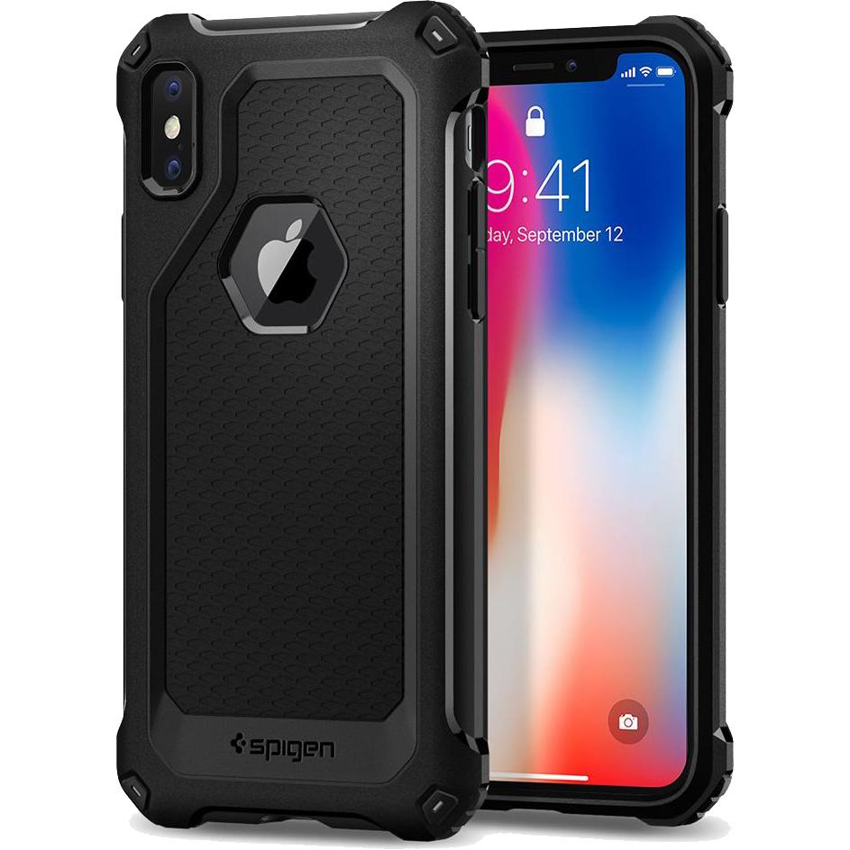 Чехол Spigen Rugged Armor Extra для iPhone X чёрный (057CS22154)Чехлы для iPhone X<br>Созданный с использованием технологии Air Cushion чехол способен рассеивать последствия ударов, благодаря наличию воздушных камер и специальн...<br><br>Цвет товара: Чёрный<br>Материал: Термопластичный полиуретан