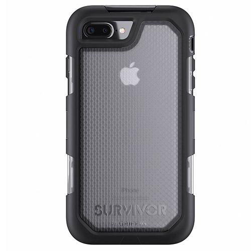 Чехол Griffin Survivor Summit для iPhone 7 Plus чёрный/прозрачныйЧехлы для iPhone 7 Plus<br>Соответствует высоким защитным стандартам!<br><br>Цвет товара: Чёрный<br>Материал: Термопластичный эластомер высокой твердости, взрывоустойчивый поликарбонат, силикон