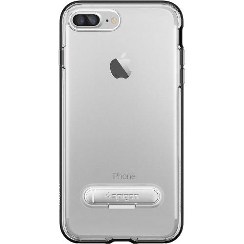 Чехол Spigen Crystal Hybrid для iPhone 7 и 8 Plus чёрный (SGP-043CS20680)Чехлы для iPhone 7 Plus<br>Spigen Crystal Hybrid — идеальный чехол для минималистов, которые ценят максимальную функциональность!<br><br>Цвет товара: Чёрный<br>Материал: Поликарбонат, термопластичный полиуретан (ТПУ)