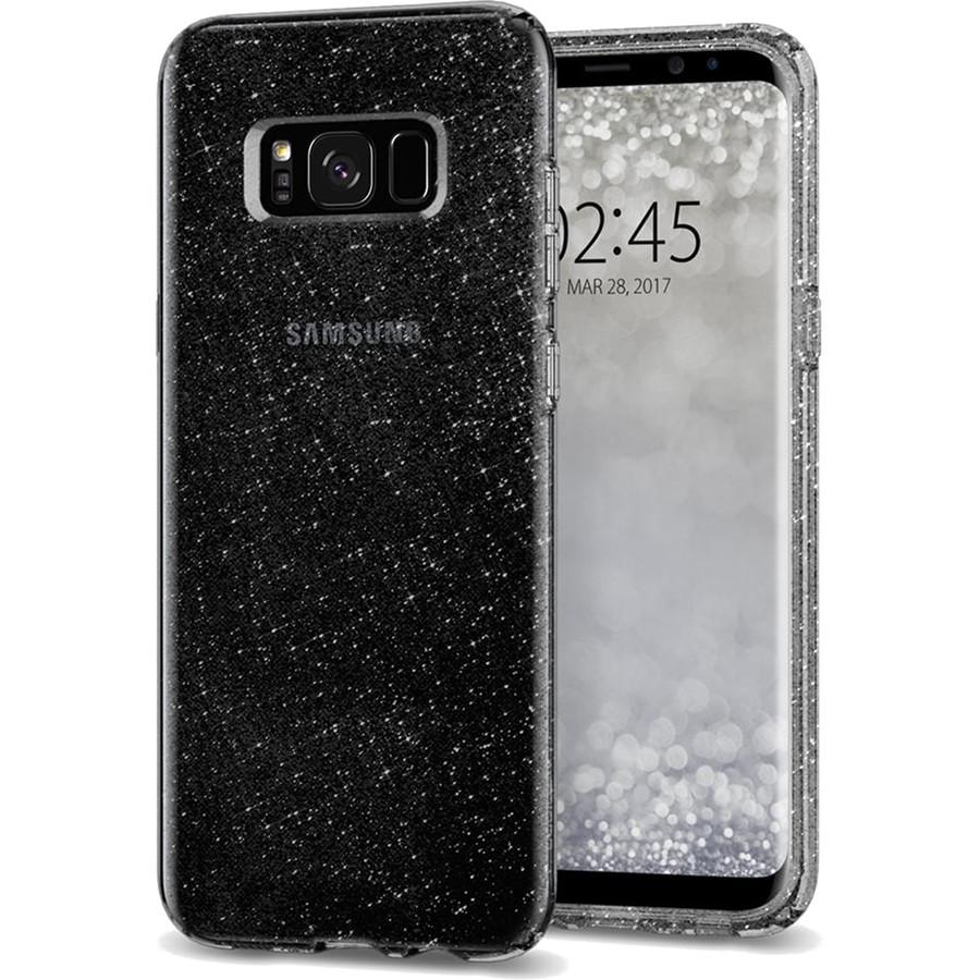 Чехол Spigen Liquid Crystal Glitter для Samsung Galaxy S8 Plus дымчатый кварц (571CS21668)Чехлы для Samsung Galaxy S8/S8 Plus<br>Полупрозрачные модные цвета чехла придадут смартфону новые оттенки, чтобы вы могли похвастаться новинкой, а не прятать ее в карман.<br><br>Цвет товара: Чёрный<br>Материал: Термопластичный полиуретан