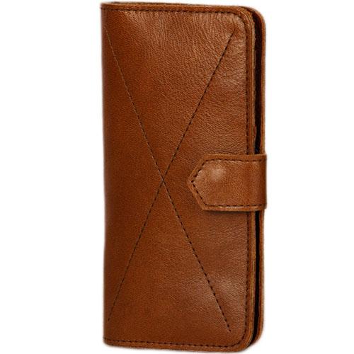 Чехол-бумажник Ray Button Kassel для iPhone 6 Plus / iPhone 6s Plus / iPhone 7 Plus светло-коричневыйЧехлы для iPhone 7 Plus<br>Стильный чехол. Удобный бумажник.<br><br>Цвет товара: Коричневый<br>Материал: Натуральная кожа, войлок