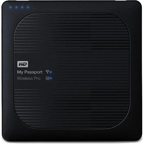 Внешний жёсткий диск Western Digital My Passport Wireless Pro 1 Тб чёрныйВнешние накопители<br>Western Digital My Passport Wireless Pro — внешний жёсткий диск, который отлично подойдёт фотографам и видеооператорам.<br><br>Цвет товара: Чёрный<br>Материал: Пластик, металл<br>Модификация: 1 Тб