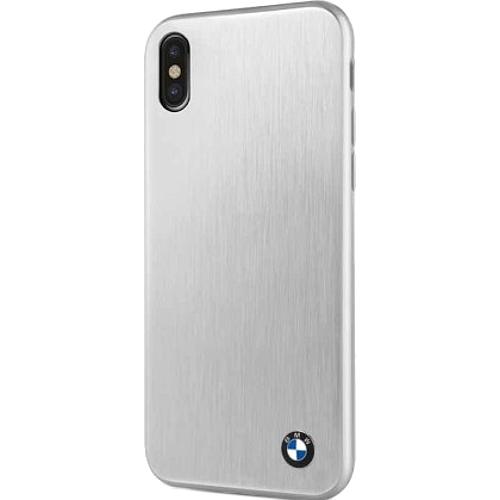Чехол BMW Signature Brushed Aluminium Hard для iPhone X серебристыйЧехлы для iPhone X<br>Металлический паттерн и скромный логотип смотрятся очень привлекательно и неброско, при этом передавая дух мощных авто.<br><br>Цвет товара: Серебристый<br>Материал: Алюминий, микрофибра, поликарбонат