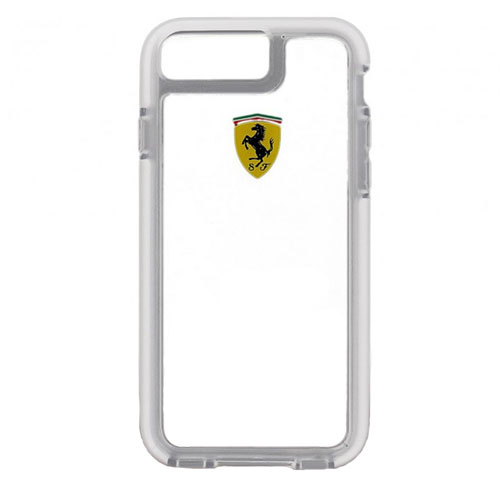 Чехол Ferrari Shockproof Hard PC для iPhone 7 Plus (Айфон 7 Плюс) прозрачный