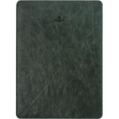 Кожаный чехол Stoneguard для MacBook Pro 13 Touch Bar зелёный (511)Чехлы для MacBook Pro 13 Touch Bar<br>Кожаный чехол Stoneguard Moscow для MacBook Pro 13 NEW 2016  model: 511 - Green<br><br>Цвет товара: Зелёный<br>Материал: Натуральная кожа, фетр