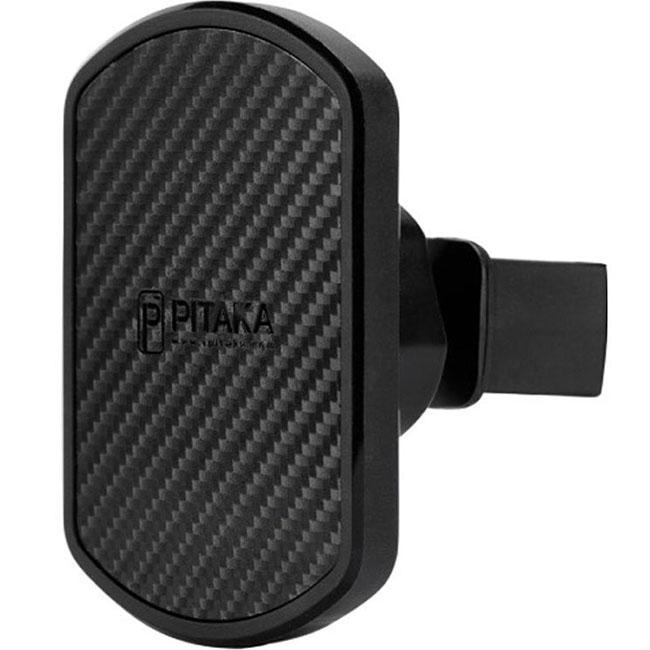 Автодержатель PITAKA Magnetic Vent Mount чёрныйАвтодержатели<br>С PITAKA Magnetic Mount использовать смартфон за рулём станет просто как никогда!<br><br>Цвет товара: Чёрный<br>Материал: Пластик, углеродное волокно