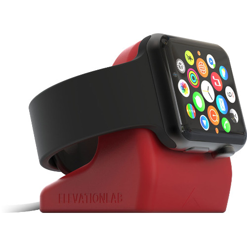 Док-станция Elevation Lab NightStand для Apple Watch краснаяДокстанции Apple Watch<br>Док-станция ElevationLAB NightStand для Apple Watch ярко-красный<br>