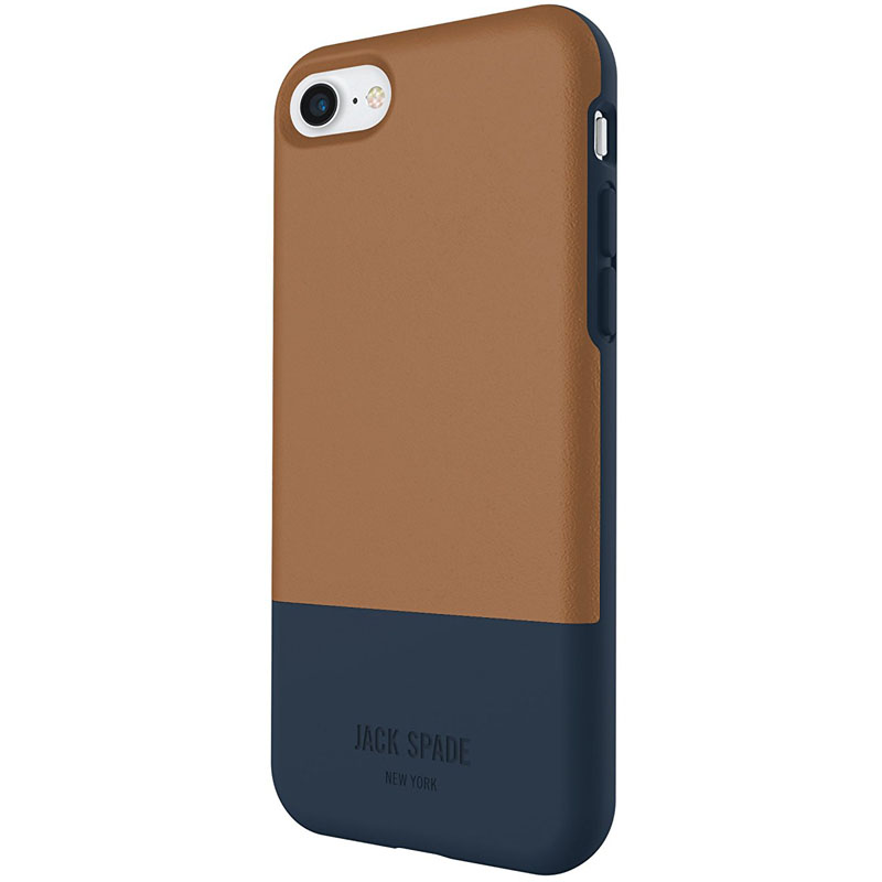 Jack Spade Credit Card Case для iPhone 7 коричневый/синийЧехлы для iPhone 7<br>Jack Spade Credit Card Case - надёжный и функциональный чехол для вашего смартфона.<br><br>Цвет товара: Коричневый<br>Материал: Поликарбонат, эко-кожа