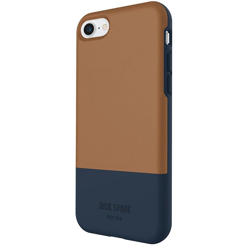 Jack Spade Credit Card Case для iPhone 7 коричневый/синий
