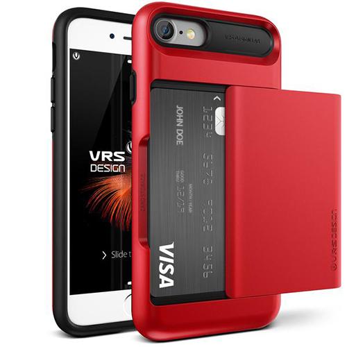Чехол Verus Damda Glide для iPhone 7, iPhone 8 красный (VRIP7-DGLRD)Чехлы для iPhone 7<br>Чехол Verus для iPhone 7  Damda Glide, красное яблоко (904613)<br><br>Цвет товара: Красный<br>Материал: Поликарбонат