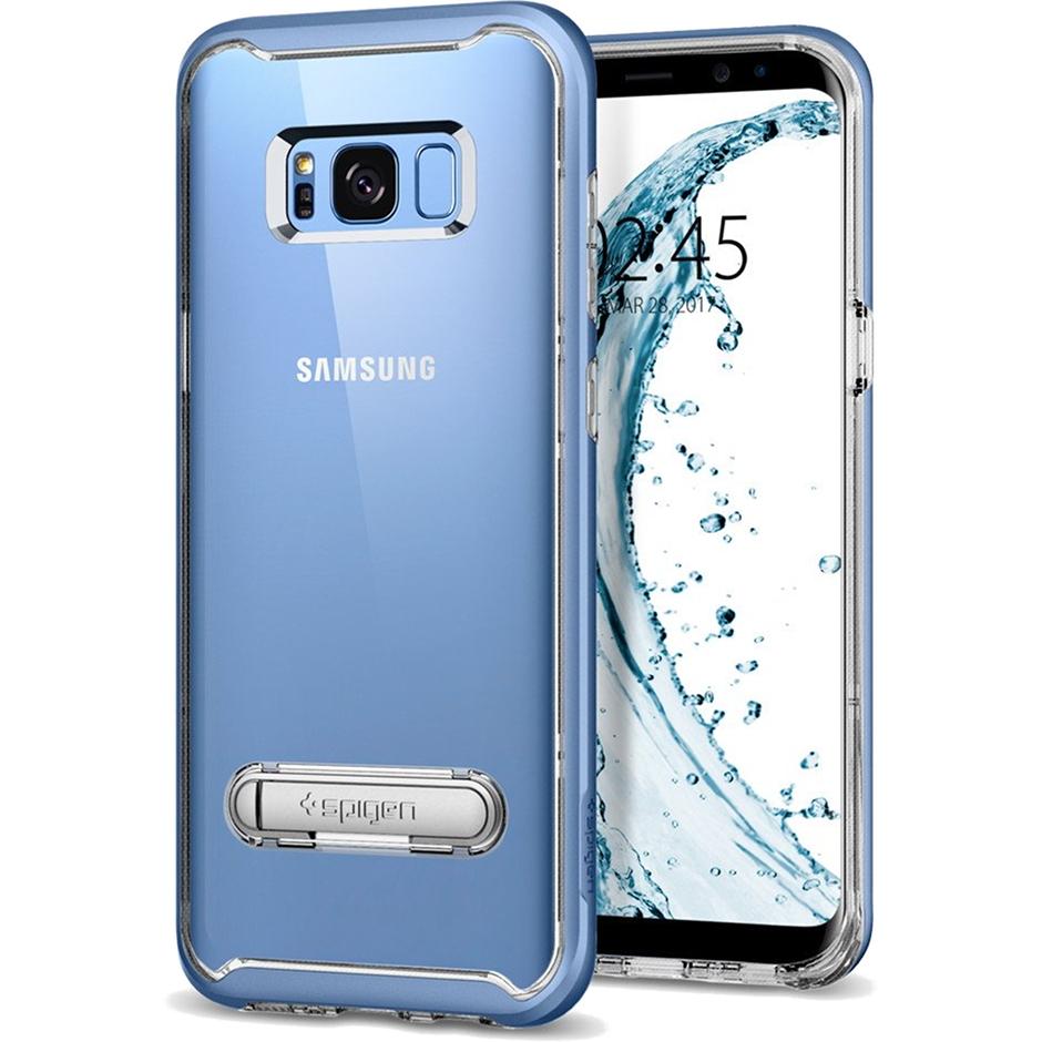 Чехол Spigen Crystal Hybrid для Samsung Galaxy S8 голубой коралл (565CS20837)Чехлы для Samsung Galaxy S8/S8 Plus<br>Тонкий и ультралёгкий и кристально-прозрачный чехол Spigen Crystal Hybrid создан специально для флагмана Samsung — Galaxy S8!<br><br>Цвет товара: Голубой<br>Материал: Термопластичный полиуретан, поликарбонат