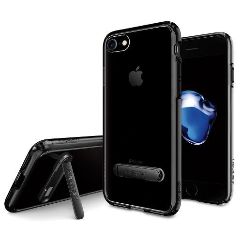 Чехол Spigen Ultra Hybrid S для iPhone 7, iPhone 8 чёрная смола (SGP-042CS20839)Чехлы для iPhone 7<br>Чехол Spigen Ultra Hybrid S для iPhone 7 (Айфон 7) чёрная смола (SGP-042CS20839)<br><br>Цвет товара: Чёрный<br>Материал: Поликарбонат, полиуретан