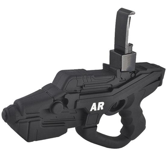 Пистолет для виртуальной реальности AR Game Gun «Бластер»Игрушки управляемые смартфоном<br>AR Game Gun создает реальность в любом месте, в любое время!<br><br>Цвет товара: Чёрный<br>Материал: Пластик