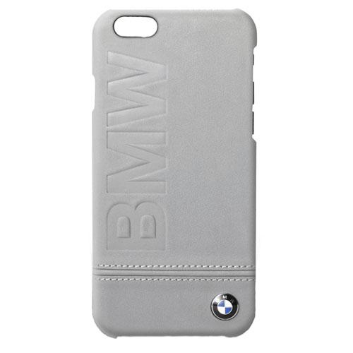Чехол BMW Signature Logo Imprint Hard Leather для iPhone 7 (Айфон 7) тёмно-серый