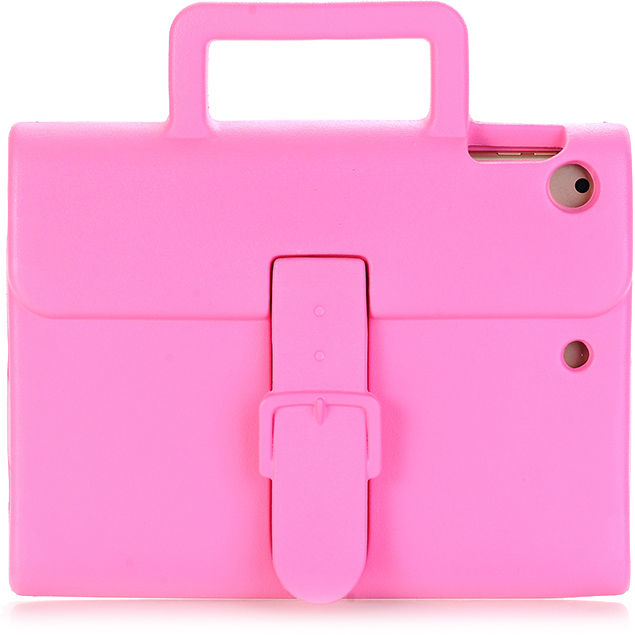 Чехол DoDo Briefcase Kids Shockproof для iPad mini 1/2/3/4 розовыйЧехлы для iPad mini 1/2/3<br><br><br>Цвет товара: Розовый<br>Материал: Силикон