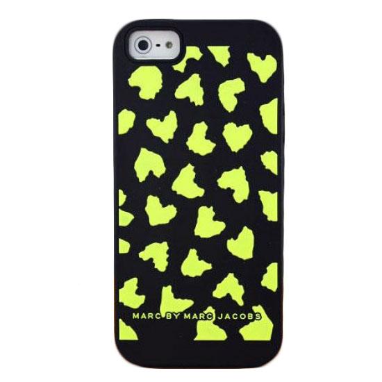 Чехол Marc Jacobs Heart для iPhone 5/5S/SE чёрный/жёлтый