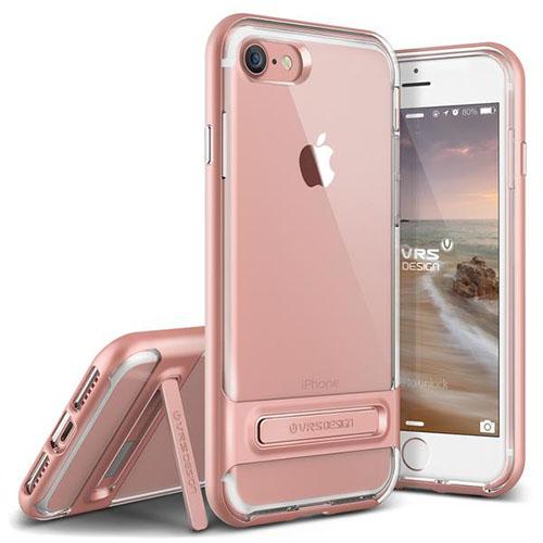 Чехол Verus Crystal Bumper для iPhone 7 (Айфон 7) розовый (VRIP7-CRBRG)Чехлы для iPhone 7<br>Чехол Verus для iPhone 7 Crystal Bumper, розовое золото (904600)<br><br>Цвет товара: Розовый<br>Материал: Поликарбонат, полиуретан
