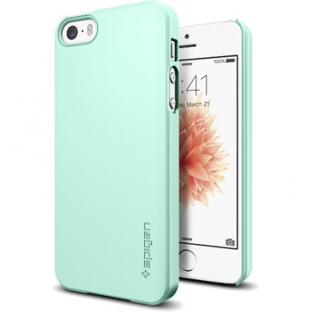 Чехол Spigen Thin Fit для iPhone SE (SGP-041CS20170)Чехлы для iPhone 5s/SE<br>Чехол Spigen Thin Fit для iPhone SE ментоловый (SGP-041CS20170)<br><br>Цвет товара: Мятный<br>Материал: Пластик