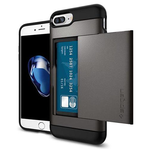 Чехол Spigen Slim Armor CS для iPhone 7 Plus стальной (043CS20526)Чехлы для iPhone 7 Plus<br><br><br>Цвет товара: Серый<br>Материал: Поликарбонат, термопластичный полиуретан