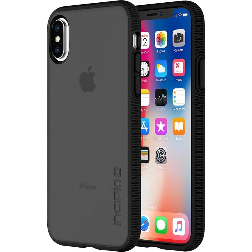 Чехол Incipio Octane для iPhone X чёрныйЧехлы для iPhone X<br>Двухслойный чехол состоит из поликарбонатной, жёсткой задней панели Plextonium™ и гибкого, абсорбирующего бампера Flex2O™ с текстурной поверхностью.<br><br>Цвет товара: Чёрный<br>Материал: Поликарбонат, термопластичный полиуретан