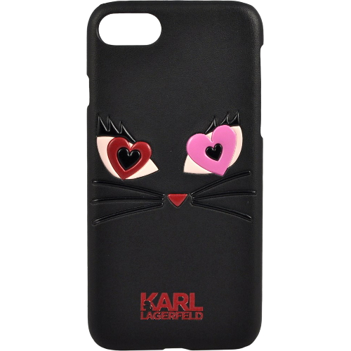 Чехол Karl Lagerfeld Choupette in love 2 Hard PU для iPhone 7 (Айфон 7) чёрный
