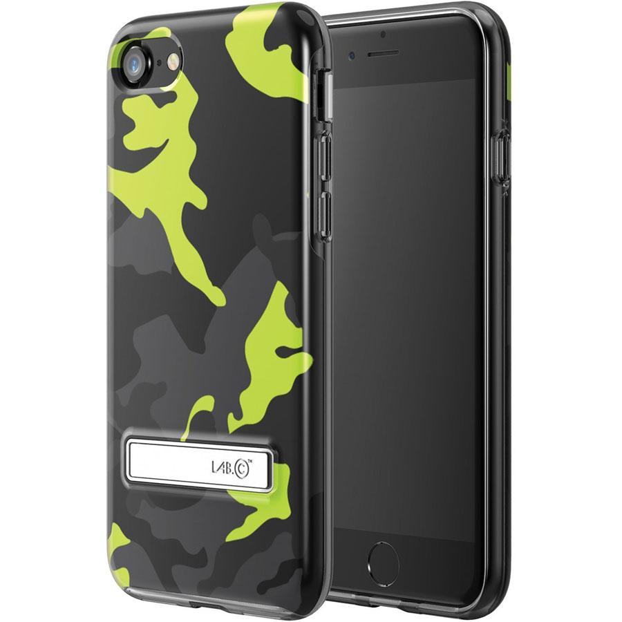 Чехол LAB.C Metal Stand Case для iPhone 7 зелёныйЧехлы для iPhone 7<br>С LAB.C Metal Stand Case ни царапины, ни трещины, ни сколы будут не страшны вашему iPhone 7!<br><br>Цвет товара: Зелёный<br>Материал: Пластик, металл<br>Модификация: iPhone 4.7