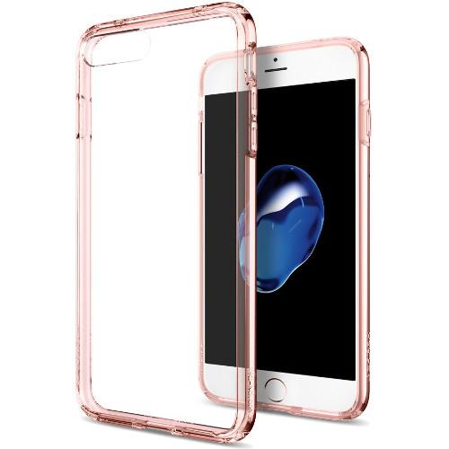 Чехол Spigen Ultra Hybrid для iPhone 7 и 8 Plus кристально-розовый (SGP-043CS20549)Чехлы для iPhone 7 Plus<br>Spigen Ultra Hybrid — идеальный чехол для минималистов, которые ценят максимальную надёжность и безопасность!<br><br>Цвет товара: Розовый<br>Материал: Термопластичный полиуретан (TPU)