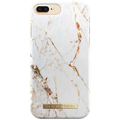Чехол iDeal of Sweden Fashion Case для iPhone 8 Plus/7 Plus/6 Plus (Carrara Gold)Чехлы для iPhone 6/6s Plus<br>Чехол iDeal of Sweden Fashion Case станет истинным украшением самого лучшего смартфона!<br><br>Цвет товара: Белый<br>Материал: Пластик, замша