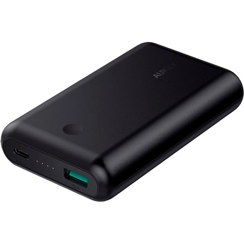 Внешний аккумулятор Aukey Force Series 10050 mAh (PB-BY10) чёрныйДополнительные и внешние аккумуляторы<br>Компактный Aukey PB-BY10 — это мощный источник питания в самых непредвиденных ситуациях!<br><br>Цвет товара: Чёрный<br>Материал: Пластик