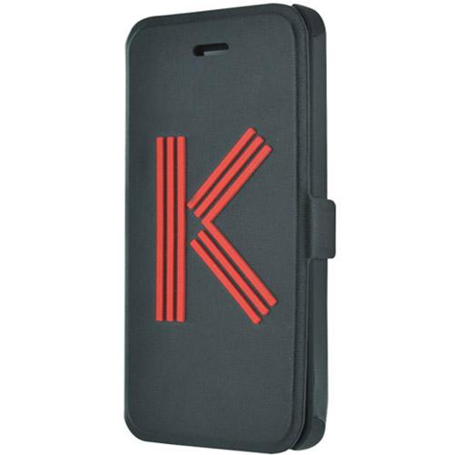 Чехол Kenzo Big K Folio для iPhone 5S/SE чёрныйЧехлы для iPhone 5s/SE<br>Чехол KENZO для iPhone 5/5s Big K Folio Noir<br><br>Цвет товара: Чёрный<br>Материал: Полиуретановая кожа, пластик