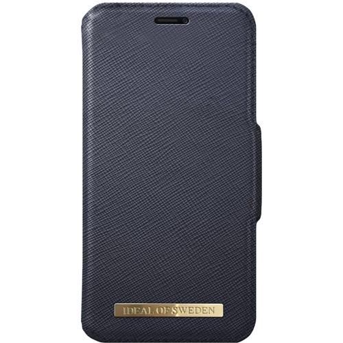 Чехол iDeal of Sweden Fashion Wallet для iPhone X синий (Navy Blue)Чехлы для iPhone X<br>Fashion Wallet от шведской компании iDeal of Sweden — это высококлассный чехол-книжка ручной работы, изготовленный из качественной сафьяновой кожи.<br><br>Цвет товара: Синий<br>Материал: Сафьяновая кожа, пластик, текстиль