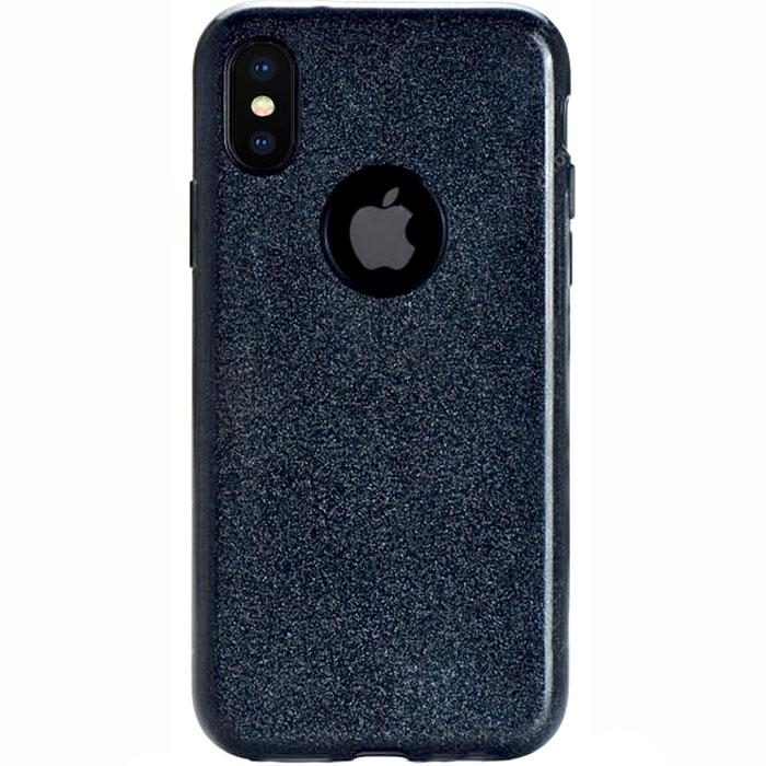 Чехол FSHANG Shine Series для iPhone X чёрныйЧехлы для iPhone X<br>Чехол с настоящим блеском, который отлично смотрится на iPhone X!<br><br>Цвет товара: Чёрный<br>Материал: Термопластичный полиуретан<br>Модификация: iPhone 5.8