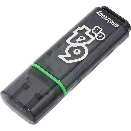 USB-накопитель Smartbuy Glossy series 64Гб USB 3.0 Тёмно-серый (SB64GBGS-DG)Флешки<br>Превосходный аксессуар для тех, кто постоянно работает с информацией от больших до малых объёмов.<br><br>Цвет: Серый<br>Материал: Пластик<br>Модификация: 64 Гб