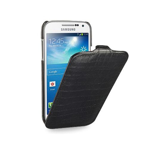 Чехол TETDED Troyes Wild для Samsung Galaxy S4 Mini Крокодил чёрныйЧехлы для Samsung Galaxy S4<br>TETDED Troyes Wild подчеркивает изящные линии вашего смартфона, не создавая лишнего объема.<br><br>Цвет товара: Чёрный<br>Материал: Кожа, пластик
