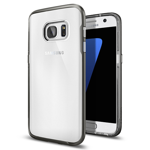 Чехол Spigen Neo Hybrid Crystal для Galaxy S7 Edge (556CS20047)Чехлы для Samsung Galaxy S7<br>Чехол Spigen Neo Hybrid Crystal для Galaxy S7 Edge стальной (556CS20047)<br><br>Материал: Пластик, резина