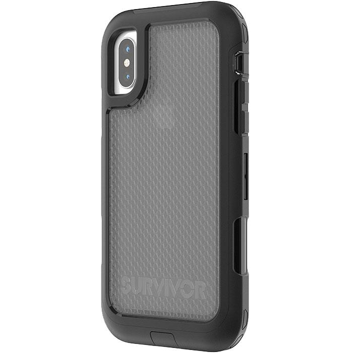 Чехол Griffin Survivor Extreme для iPhone X чёрный/прозрачныйЧехлы для iPhone X<br>Griffin Survivor Extreme предлагает экстремальную защиту вашему iPhone X!<br><br>Цвет товара: Чёрный<br>Материал: Поликарбонат высокой прочности, полиуретан повышенной твёрдости, силикон<br>Модификация: iPhone 5.8