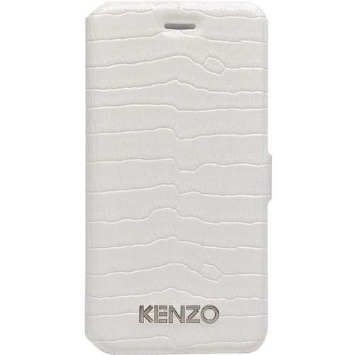 Чехол Kenzo Croco Folio для iPhone 5S/SEЧехлы для iPhone 5s/SE<br>Чехол KENZO для iPhone 5/5s Croco Folio Blanc<br><br>Цвет товара: Бежевый<br>Материал: Натуральная кожа, пластик