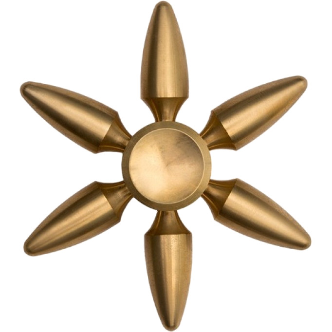 Спиннер EDC Metal Series Bullets SP4584Игрушки-антистресс<br>Fidget Spinner (спиннер) — новый класс занимательных игрушек. Их прозвали «новым кубиком Рубика» и «новым тамагочи», а The New York Times — «хулахупом пок...<br><br>Цвет товара: Золотой<br>Материал: Алюминий