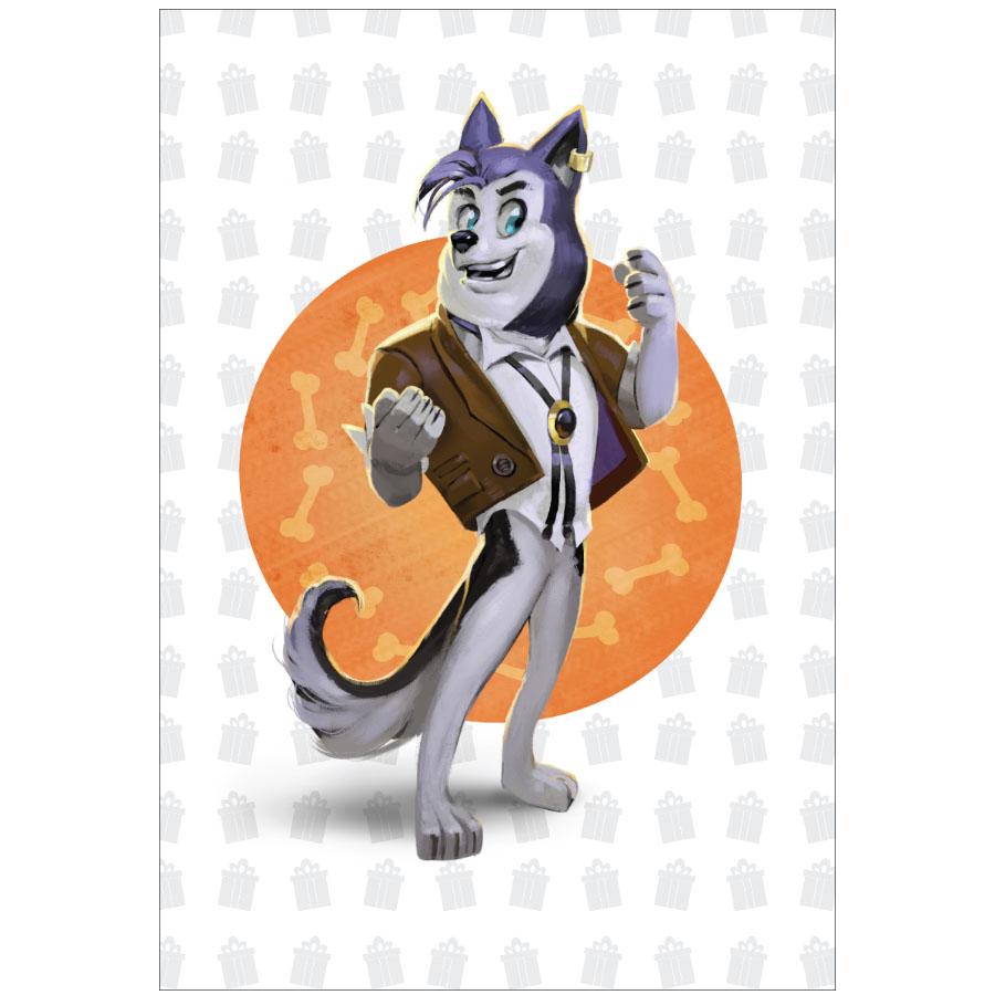 Живая открытка Fibrum «Пёс Винсент»Интерактивные открытки<br>Живая открытка Fibrum - лучший подарок для любого праздника!<br><br>Цвет товара: Разноцветный<br>Материал: Картон
