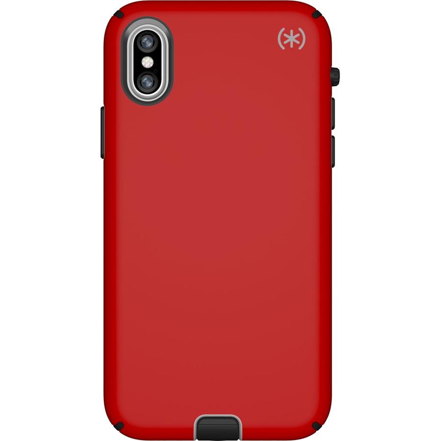 Чехол Speck Presidio Sport для iPhone X красный Heartrade/серый Sidewalk/чёрныйЧехлы для iPhone X<br>360° защиты от неприятностей и повреждений!<br><br>Цвет: Красный<br>Материал: Поликарбонат