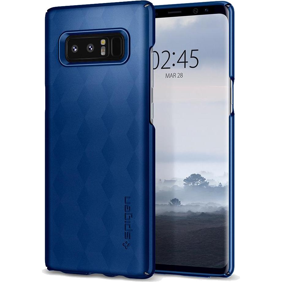Чехол Spigen Thin Fit для Samsung Galaxy Note 8 тёмно-синий (587CS22054)Чехлы для Samsung Galaxy Note<br>Это износостойкий материал, прочный и лёгкий, не боится перепадов температур и не выгорает на солнце.<br><br>Цвет: Синий<br>Материал: Поликарбонат