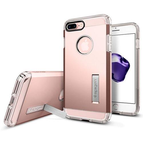 Чехол Spigen Tough Armor для iPhone 7 Plus розовое золото (043CS20532)Чехлы для iPhone 7 Plus<br>Обеспокоены безопасностью вашего iPhone 7 Plus? С бестселлером от Spigen — чехлом Tough Armor — вам больше никогда не придётся об этом волноваться!<br><br>Цвет товара: Розовое золото<br>Материал: Поликарбонат, полиуретан