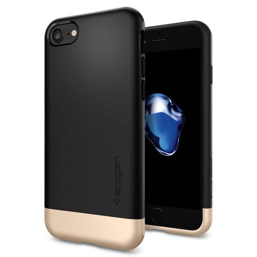Чехол Spigen Style Armor дл iPhone 7 (Айфон 7) чёрный (SGP-042CS20516)Чехлы дл iPhone 7<br>Чехол Spigen Style Armor дл iPhone 7 (Айфон 7) чёрный (SGP-042CS20516)<br><br>Цвет товара: Чёрный<br>Материал: Поликарбонат, текстиль