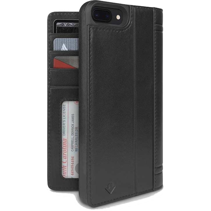 Чехол Twelve South Journal для iPhone 7 Plus / 8 Plus чёрныйЧехлы для iPhone 7 Plus<br>Чехол Twelve South Journal — это не только отличный способ защитить смартфон, но возможность взять с собой немного денег или пластиковую карту без б...<br><br>Цвет товара: Чёрный<br>Материал: Кожа, поликарбонат<br>Модификация: iPhone 5.5